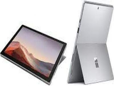 Microsoft surface Pro 7 (on pen and key ) Platinum