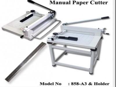 manual paper cutter 858-A3& Holder $245