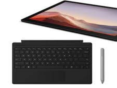 Microsoft surface Pro 7 with  type Cover (key) Bla