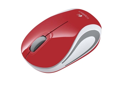 Logitech Mouse M187(Red)