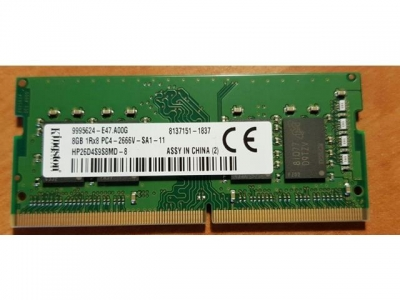RAM Desktop Kingston 8GB DDR4 2666Mhz 8Chips